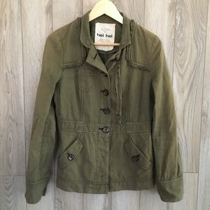 Hei Hei Utility Zipper Jacket/Olive Green